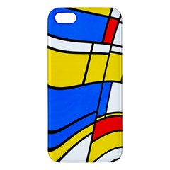 Colorful Distorted Shapes Iphone 5s Premium Hardshell Case