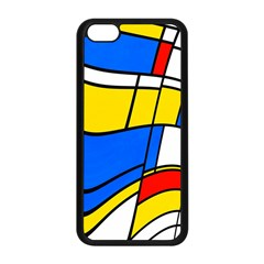 Colorful Distorted Shapes Apple Iphone 5c Seamless Case (black)
