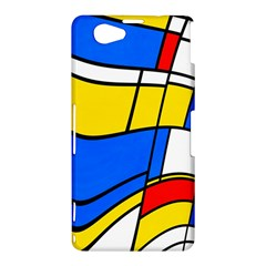 Colorful distorted shapes Sony Xperia Z1 Compact Hardshell Case