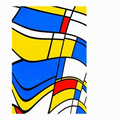 Colorful distorted shapes Small Garden Flag
