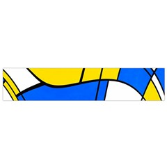 Colorful distorted shapes Flano Scarf