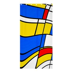 Colorful distorted shapes	Shower Curtain 36  x 72