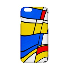 Colorful distorted shapes Apple iPhone 6 Hardshell Case