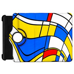Colorful Distorted Shapes	kindle Fire Hd Flip 360 Case