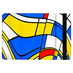 Colorful distorted shapes	Apple iPad Air Flip Case