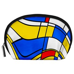 Colorful Distorted Shapes Accessory Pouch