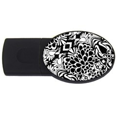 70 s Wallpaper 4gb Usb Flash Drive (oval)