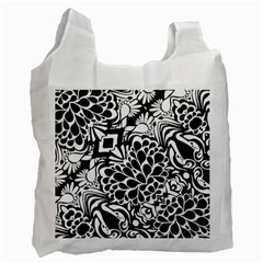 70 s Wallpaper White Reusable Bag (one Side)