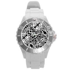 70 s Wallpaper Plastic Sport Watch (large)
