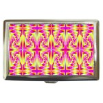 Pink and Yellow Rave Pattern Cigarette Money Case Front