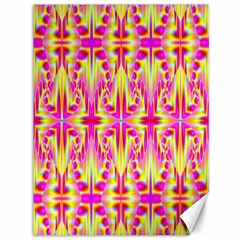 Pink And Yellow Rave Pattern Canvas 36  X 48  (unframed)