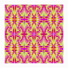 Pink And Yellow Rave Pattern Glasses Cloth (medium, Two Sided)