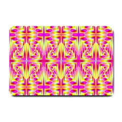 Pink And Yellow Rave Pattern Small Door Mat