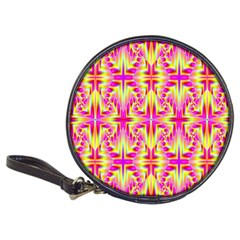 Pink And Yellow Rave Pattern Cd Wallet