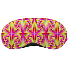Pink And Yellow Rave Pattern Sleeping Mask