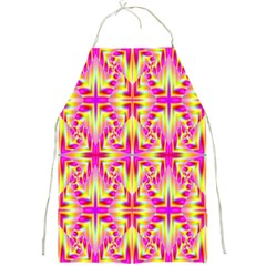 Pink And Yellow Rave Pattern Apron