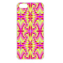 Pink And Yellow Rave Pattern Apple Iphone 5 Seamless Case (white)