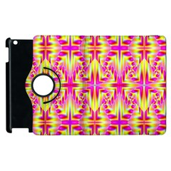 Pink and Yellow Rave Pattern Apple iPad 2 Flip 360 Case