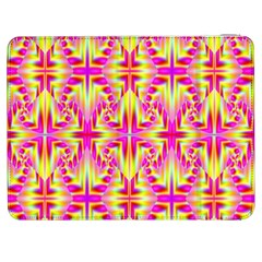 Pink and Yellow Rave Pattern Samsung Galaxy Tab 7  P1000 Flip Case