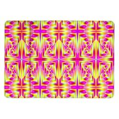 Pink And Yellow Rave Pattern Samsung Galaxy Tab 10 1  P7500 Flip Case