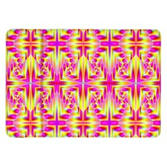 Pink And Yellow Rave Pattern Samsung Galaxy Tab 8 9  P7300 Flip Case