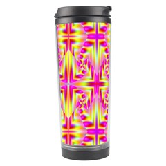 Pink And Yellow Rave Pattern Travel Tumbler