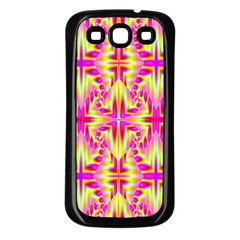 Pink And Yellow Rave Pattern Samsung Galaxy S3 Back Case (black)