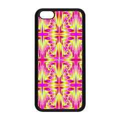 Pink and Yellow Rave Pattern Apple iPhone 5C Seamless Case (Black)