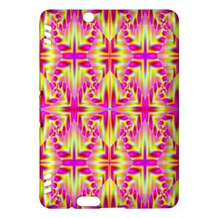 Pink and Yellow Rave Pattern Kindle Fire HDX Hardshell Case