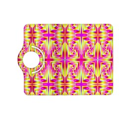 Pink And Yellow Rave Pattern Kindle Fire Hd (2013) Flip 360 Case