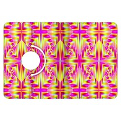 Pink And Yellow Rave Pattern Kindle Fire Hdx Flip 360 Case