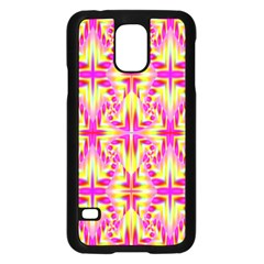 Pink and Yellow Rave Pattern Samsung Galaxy S5 Case (Black)