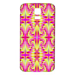 Pink and Yellow Rave Pattern Samsung Galaxy S5 Back Case (White)