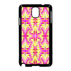 Pink And Yellow Rave Pattern Samsung Galaxy Note 3 Neo Hardshell Case (black)