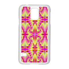 Pink and Yellow Rave Pattern Samsung Galaxy S5 Case (White)