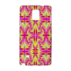 Pink and Yellow Rave Pattern Samsung Galaxy Note 4 Hardshell Case