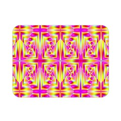 Pink And Yellow Rave Pattern Double Sided Flano Blanket (mini)