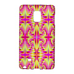 Pink And Yellow Rave Pattern Samsung Galaxy Note Edge Hardshell Case