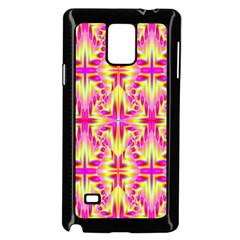 Pink And Yellow Rave Pattern Samsung Galaxy Note 4 Case (black)