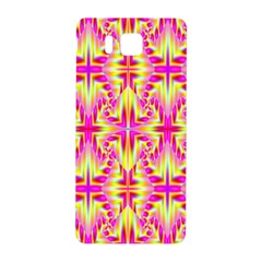 Pink And Yellow Rave Pattern Samsung Galaxy Alpha Hardshell Back Case