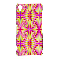 Pink and Yellow Rave Pattern Sony Xperia Z3 Hardshell Case