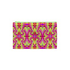 Pink and Yellow Rave Pattern Cosmetic Bag (XS)