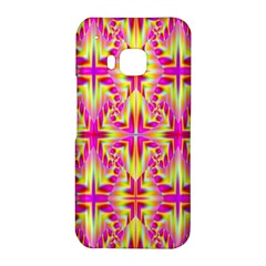Pink and Yellow Rave Pattern HTC One M9 Hardshell Case