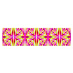 Pink And Yellow Rave Pattern Satin Scarf (oblong)