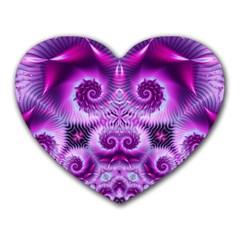 Purple Ecstasy Fractal Heart Mousepad