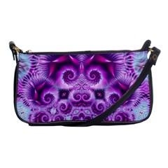 Purple Ecstasy Fractal Shoulder Clutch Bag