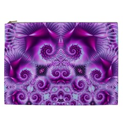 Purple Ecstasy Fractal Cosmetic Bag (xxl)