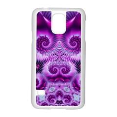 Purple Ecstasy Fractal Samsung Galaxy S5 Case (White)