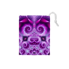 Purple Ecstasy Fractal Drawstring Pouch (Small)