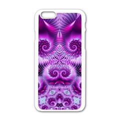 Purple Ecstasy Fractal Apple iPhone 6 White Enamel Case
